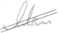 Ian Burns' signature